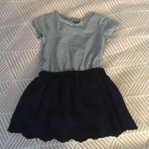 Striped dress for baby girl 12-18 mo